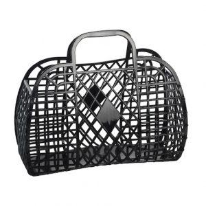 Large Retro Basket - Black   Sunjellies   Unique Gifts for Children   Oscar & B   UK