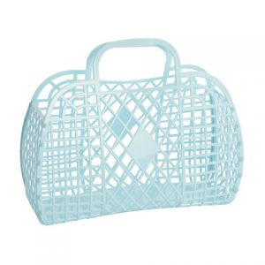 Large Retro Basket - Blue   Sunjellies   Unique Gifts for Children   Oscar & B   UK