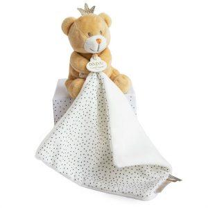Litle King Bear with Doudou   Doudou et Compagnie   Unique Gifts   Oscar & B   United Kingdom