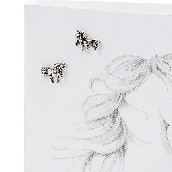 Unicorn Earring Card | Crumble & Core | Unique Gifts | Oscar & B | UK