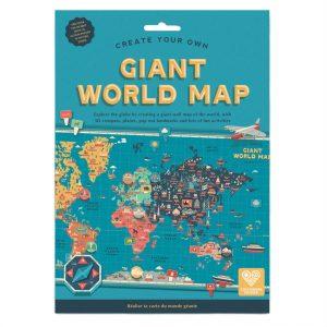 Giant World Map | Clockwork Soldier | Unique Gifts | Oscar & B | UK