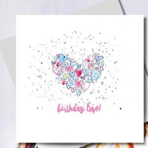 Birthday Love Heart Card | Marina B | Unique Gifts | Oscar & B | United Kingdom