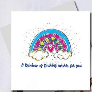 Rainbow Of Birthday Wishes Card | Marina B | Unique Gifts | Oscar & B | United Kingdom