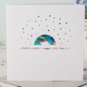 Rainbow Shimmer Birthday Card | Marina B | Unique Gifts | Oscar & B | United Kingdom