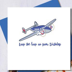 Loop The Loop Birthday Card | Marina B | Unique Gifts | Oscar & B | United Kingdom