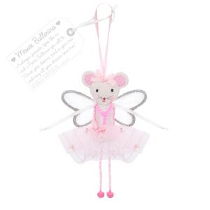 Mouse Ballerina - Pink | Believe You Can | Unique Gifts | Oscar & B | UK