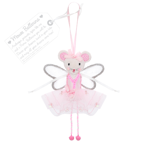 Mouse Ballerina - Pink   Believe You Can   Unique Gifts   Oscar & B   UK