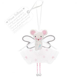 Mouse Ballerina - White | Believe You Can | Unique Gifts | Oscar & B | UK