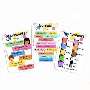 French Language Flashcards | Fili & Flora | Unique Gifts | Oscar & B | United Kingdom