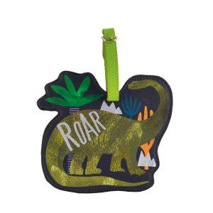 Dinosaur Luggage Tag   Floss & Rock   Unique Gifts   Oscar & B   United Kingdom