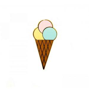 Ice Cream Enamel Pin | Unique Gifts for Children | Oscar & B | UK
