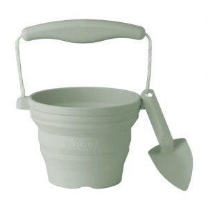 Seedling Pot and Trowel - Sage Green | Scrunch | Unique Gifts for Children | Oscar & B | UK